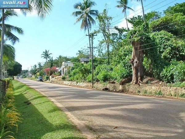 Тонга острова Вавау город Нейафу одна из улиц